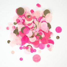 Confettis rose et doré - 3 tailles