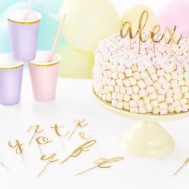 Cake topper alphabet - or