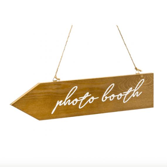 Panneau indicatif pour photobooth