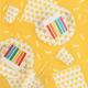 Serviettes triangles jaunes x20