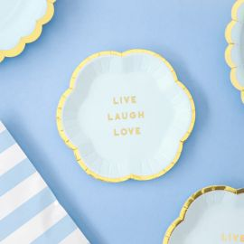 Assiettes Live Laugh Love - bleu