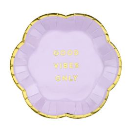 Assiettes Good Vibes Only - violet