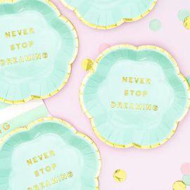 Assiettes Never Stop Dreaming - vert menthe