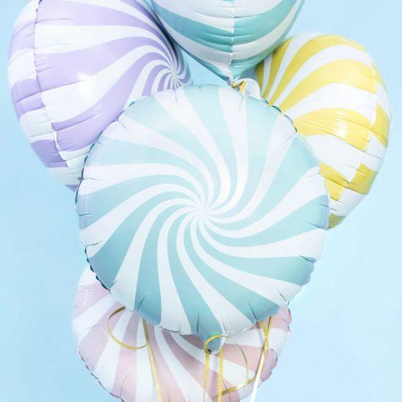 Ballon bonbon bleu