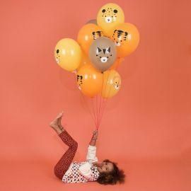Ballons anniversaire Jungle x5