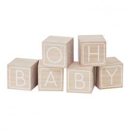 Cubes en bois babyshower