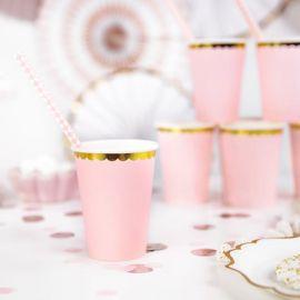 Gobelets jetables - rose pâle (par 6)