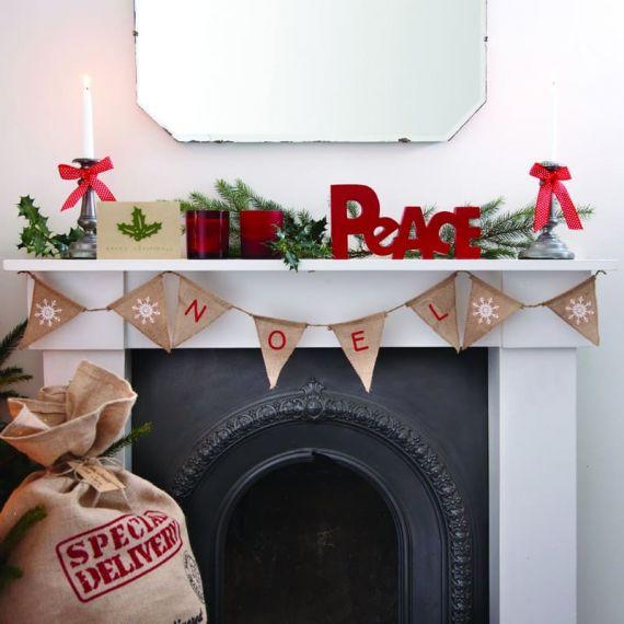 Guirlande Noël à fanions