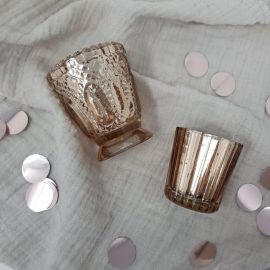 Photophores vintage rose gold x4