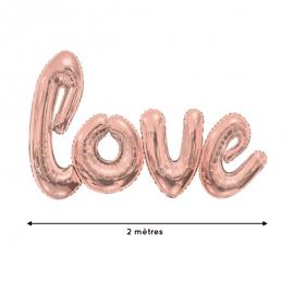 Ballon géant Love rose gold - 2 mètres