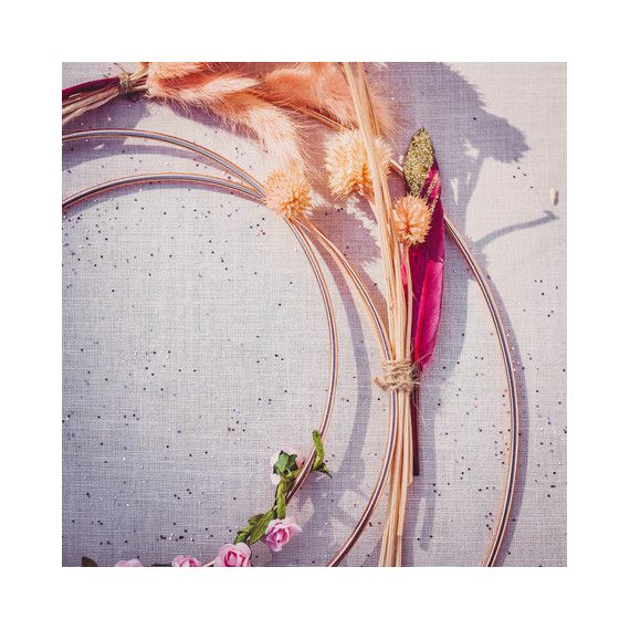 Cercle métal rose gold à personnaliser - 2 tailes