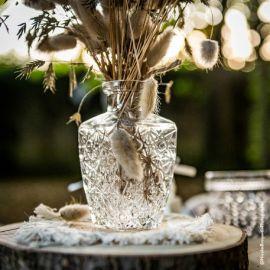 Vase gravé vintage
