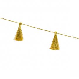 Guirlande mini pompon or