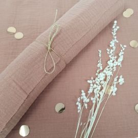 Chemin de table en mousseline - Rose