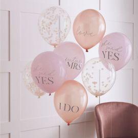 Ballons confettis et pastels EVJF x8