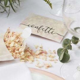 Confettis de fleurs biodégradables - rose pâle