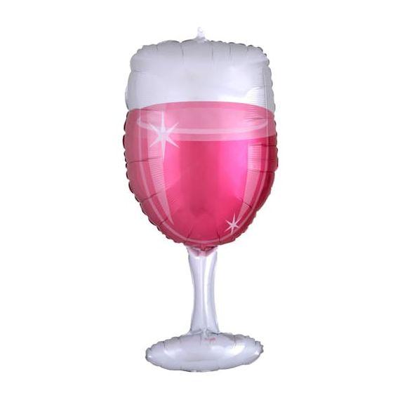 Ballon géant verre de rosé
