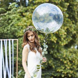 Ballon bulle avec guirlande végétale