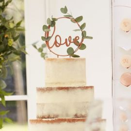 Cake topper Love rose gold
