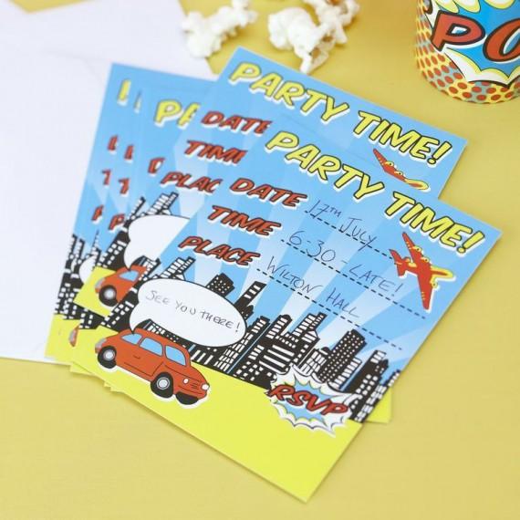 Cartes d'invitation Comics