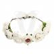 Couronne de fleurs blanche pour cheveux evjf
