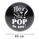 Ballon confetti Gender Reveal - 60 cm