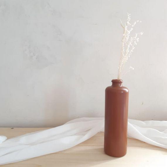 Bouteille vase terracotta - moyen modele