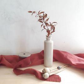Bouteille Vase poterie beige - petit modèle