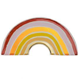 Assiettes arc en ciel terracotta x8