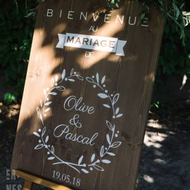 Panneau mariage personnalisable - Bois