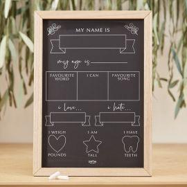 Baby Milestone Chalkboard Sign