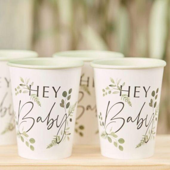 "Gobelets ""Hey Baby"" botanique"