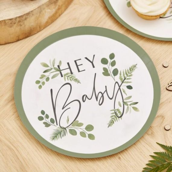 Assiettes jetables Hey Baby