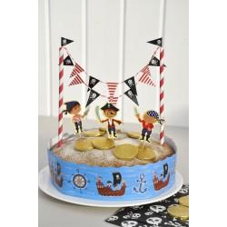 Déco de gâteau pirates