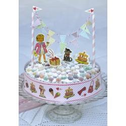 Déco de gâteau vintage fille