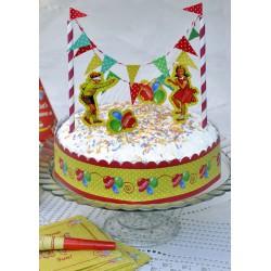 Déco de gâteau vintage enfant