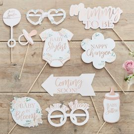 Kit accessoires Photobooth Baby Shower Floral