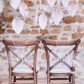 Déco de chaise mariage en plexiglas