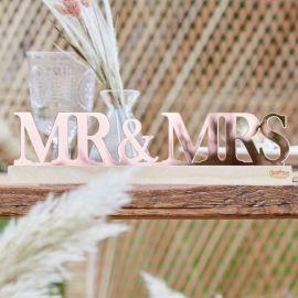 Décoration de tablemariage Mr & Mrs