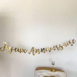 Guirlande Joyeux anniversaire Or métallisé