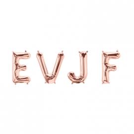 Ballons lettres EVJF rose gold - 40 cm