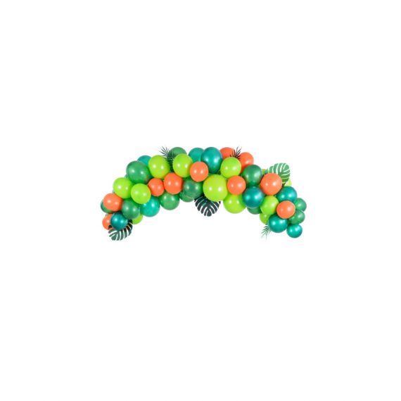 Arche de ballons vert et orange