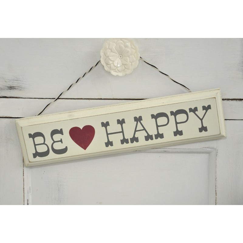 Pancarte bois Be Happy Modern Confetti # Pancarte En Bois Personnalisée
