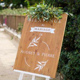 Panneau mariage personnalisable - Bois Design Olivier