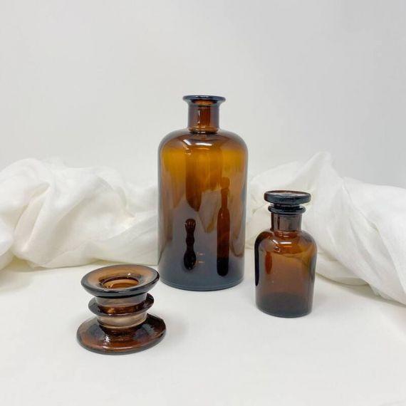 Flacon apothicaire verre ambré 60 ml