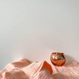 photophore mercurisé boule rose gold