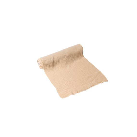Chemin de table gaze de coton beige
