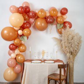 Arche de ballons nude, terracotta et blush