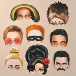 8 masques Icônes de la musique pop rock