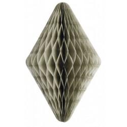 Pompon papier de soie medium - diamant gris